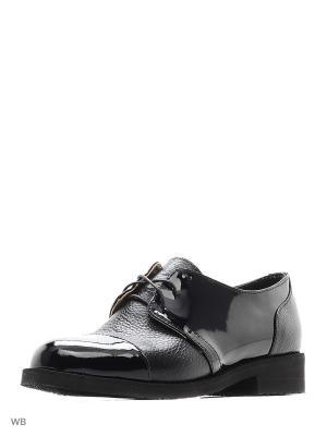 Туфли ESTELLA. Цвет: черный, темно-бежевый