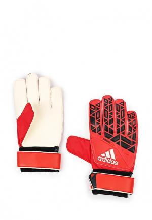 Перчатки вратарские adidas Performance. Цвет: красный
