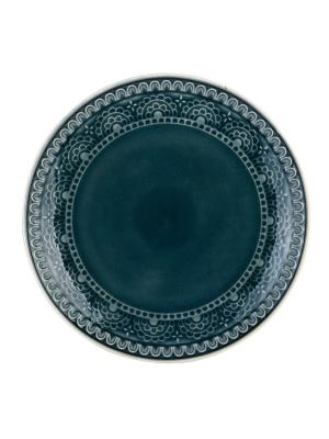 Набор тарелок обеденных TONGO. Цвет: темно-зеленый