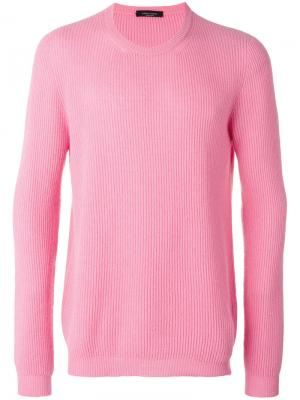 Свитер с рубчик Roberto Collina. Цвет: розовый и фиолетовый