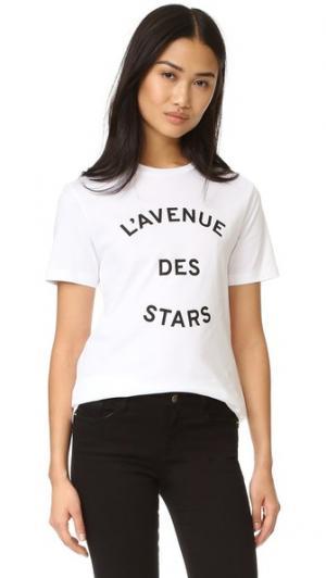 Футболка Avenue Des Stars Etre Cecile. Цвет: белый