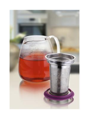 Чайник заварочный 0,9Л Augustin Welz. Цвет: серый, прозрачный