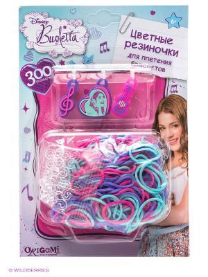Crazy Loom. Виолетта. Цветные резиночки. Loom. Цвет: голубой, розовый