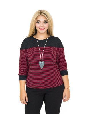 Блуза Милашка BALSAKO. Цвет: бордовый, темно-серый