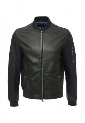 Куртка кожаная Tommy Hilfiger. Цвет: хаки