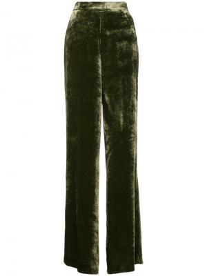 Длинные брюки клеш Etro. Цвет: зелёный