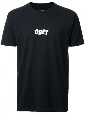 Футболка с принтом-логотипом Obey. Цвет: чёрный