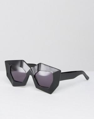 House of Holland Солнцезащитные очки Superhero. Цвет: черный