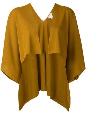 Накидка без застежки Jucca. Цвет: жёлтый и оранжевый