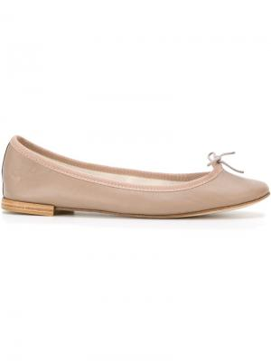 Contrast trim ballerina shoes Repetto. Цвет: серый