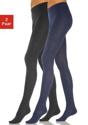 Колготки, Lavana (2 шт.). Цвет: джинсовый + чёрный