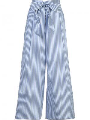 Широкие брюки Bennih By Malene Birger. Цвет: синий