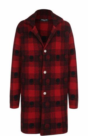 Однобортное шерстяное пальто Gemma. H. Цвет: красный