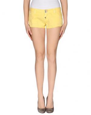 Повседневные шорты JCOLOR. Цвет: желтый