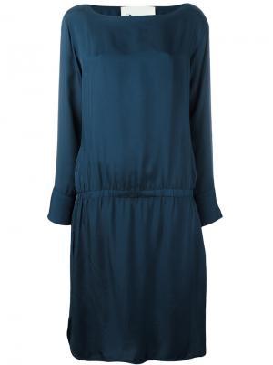 Платье с оборками 8pm. Цвет: синий