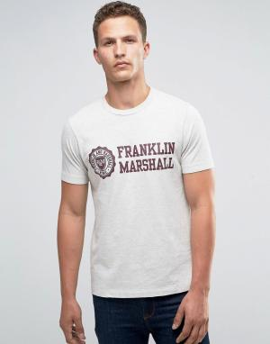 Franklin & Marshall Футболка с гербом and. Цвет: серый