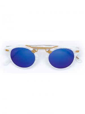 Солнцезащитные очки St. Louis Krewe Du Optic. Цвет: белый