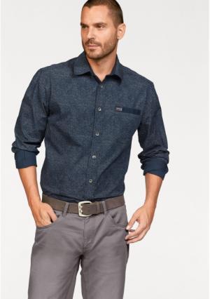 Рубашка Arizona. Цвет: темно-синий
