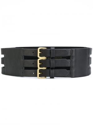 Ремень с тремя пряжками B-Low The Belt. Цвет: чёрный