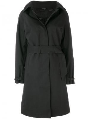 Однобортное пальто Norwegian Rain. Цвет: чёрный
