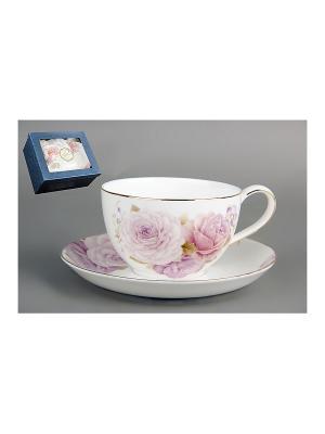 Пара чайная 1/2 240мл Коралл. Цвет: белый
