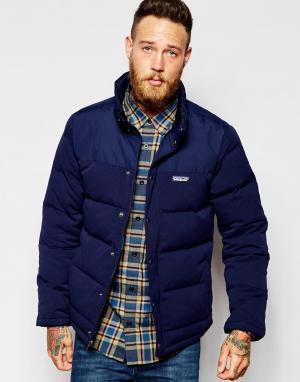 Patagonia Куртка-пуховик Bivy. Цвет: синий