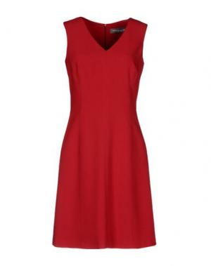 Короткое платье CARLA MONTANARINI. Цвет: кирпично-красный