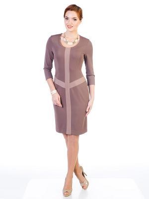 Платье VENUSITA. Цвет: темно-бежевый