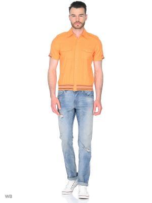 Рубашка AMATO. Цвет: оранжевый