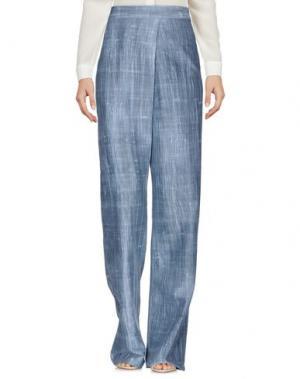 Повседневные брюки LAVINIATURRA. Цвет: грифельно-синий