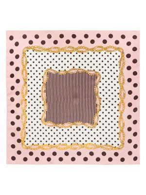 Платок Eleganzza. Цвет: темно-коричневый, горчичный, светло-бежевый