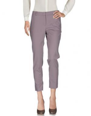 Повседневные брюки PESERICO SIGN. Цвет: розовато-лиловый
