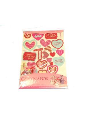 Набор Сделай открытку в коробочке 3Д Азбука Тойс. Цвет: розовый