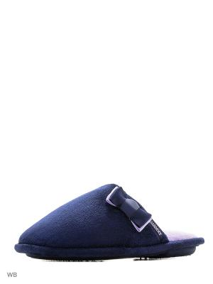 Тапочки Isotoner. Цвет: голубой, темно-синий