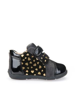 Ботинки GEOX. Цвет: черный, золотистый