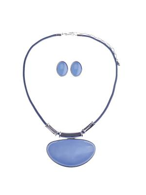 Комплект Fiore Lune. Цвет: серебристый, синий