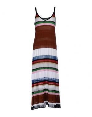 Платье длиной 3/4 AKEP. Цвет: коричневый