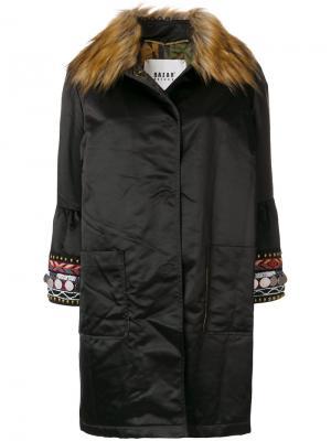 Однобортное пальто Bazar Deluxe. Цвет: коричневый