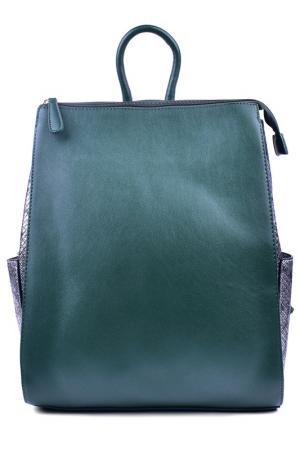 Рюкзак Renee Kler. Цвет: зеленый, серебряный