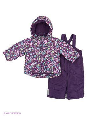 Костюм: куртка + комбинезон Modis. Цвет: фиолетовый, фуксия, синий