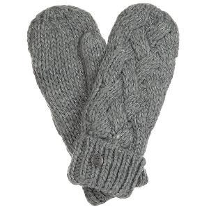 Варежки женские  Love&snowmitten Mid Heather Grey Roxy. Цвет: серый