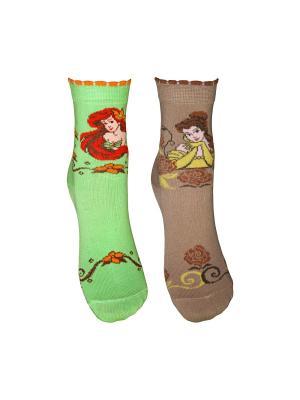 Носки 2 пары Master Socks. Цвет: салатовый, темно-бежевый
