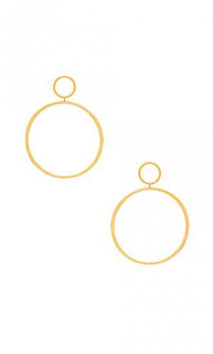 Серьги-кольца cadillac Vanessa Mooney. Цвет: металлический золотой