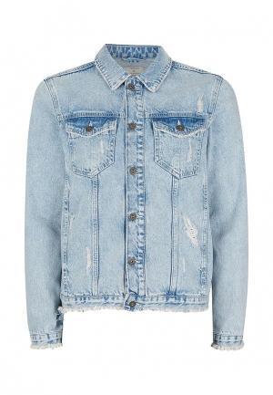 Куртка джинсовая Topman. Цвет: голубой