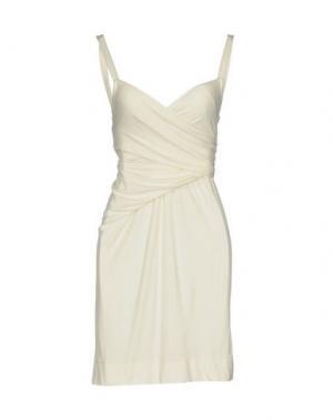 Короткое платье DONNA KARAN. Цвет: белый