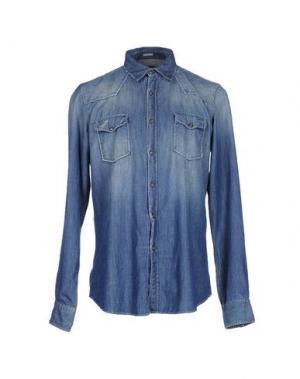 Джинсовая рубашка HIMON'S. Цвет: синий