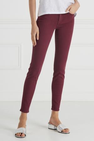 Комбинированные джинсы 7 For All Mankind. Цвет: ярко-розовый
