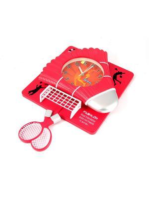 Часы настенные Бадминтон Русские подарки. Цвет: серебристый, белый, красный
