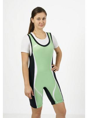 Комбинезон для пауэрлифтинга и фитнеса CROSS sport. Цвет: зеленый