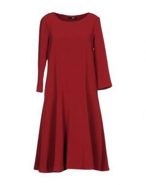 Короткое платье B.YU. Цвет: красно-коричневый